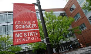A college of science at NC State University banner.